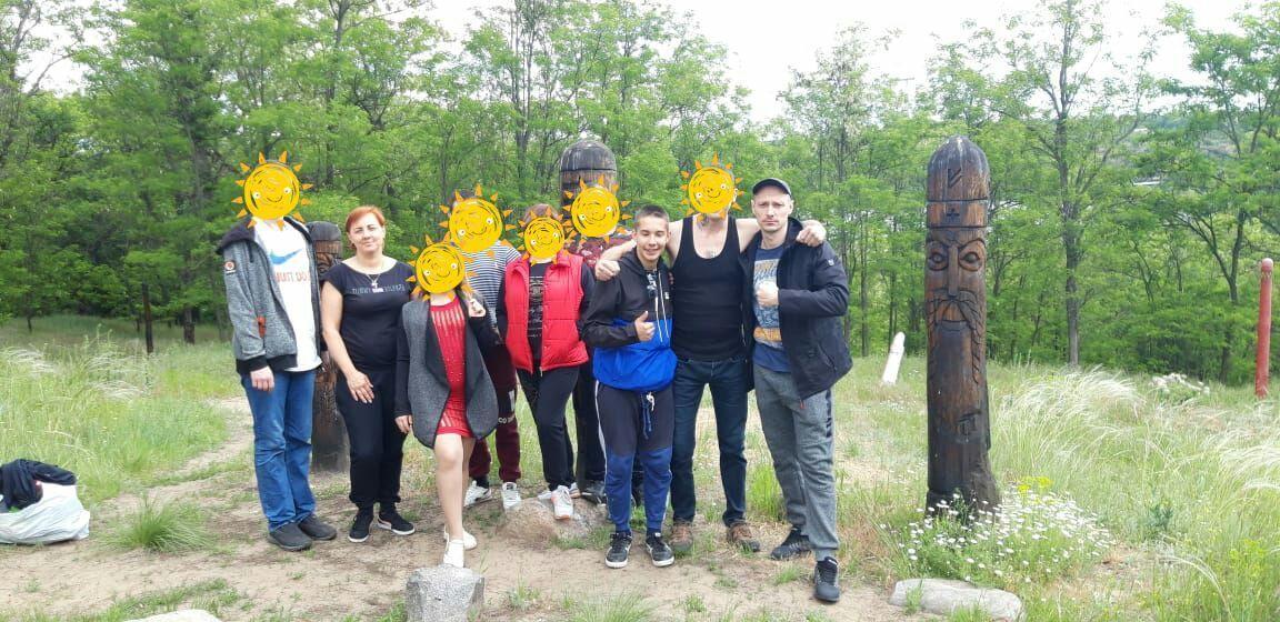 Visiting Khortitsa by rehabilitants of the IAA branch in Zaporozhye