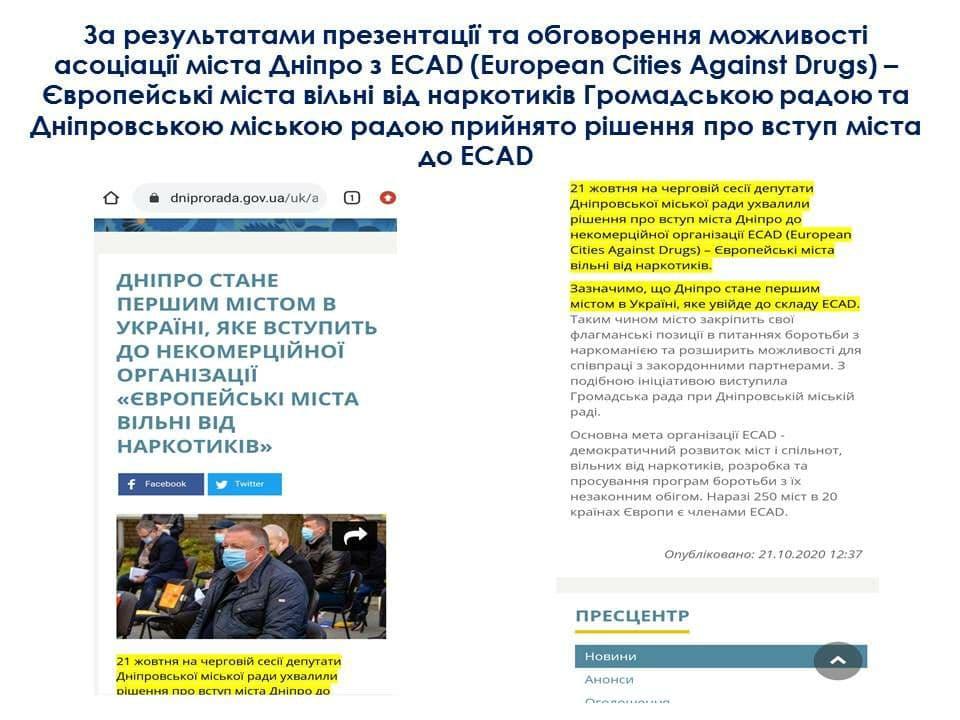 Міжнародний Антинаркотичний Конгрес «Дніпро 2020»